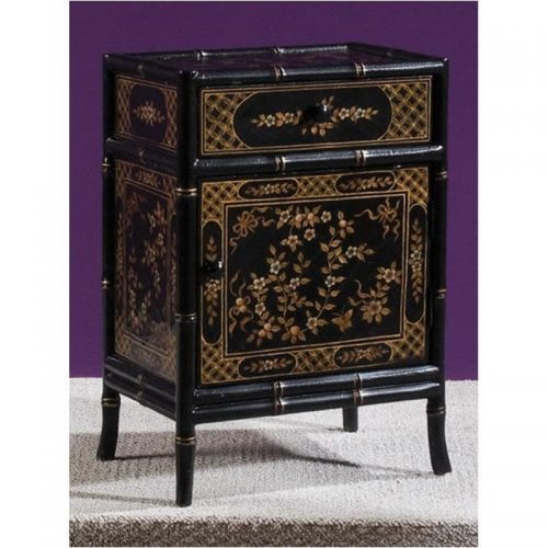 hammary leaf and vine small cabinet