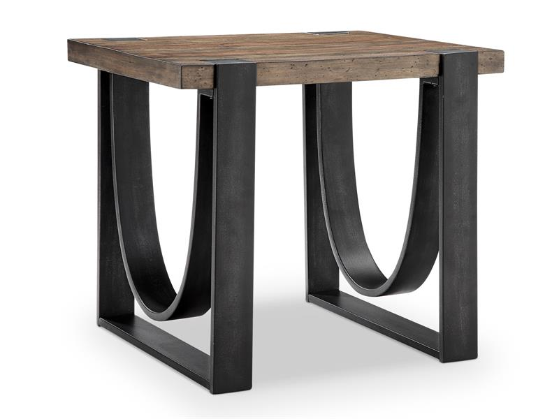 iron and wood coffee and end tables