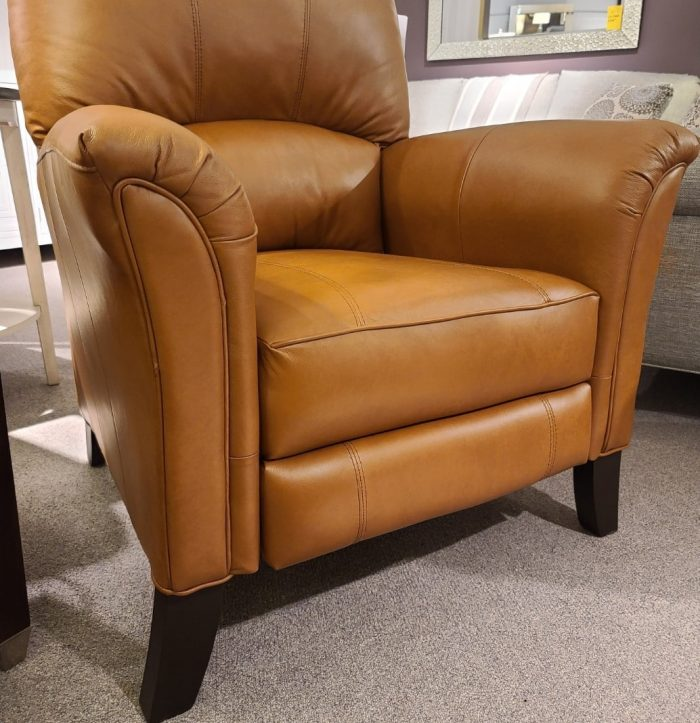 all leather push back recliner