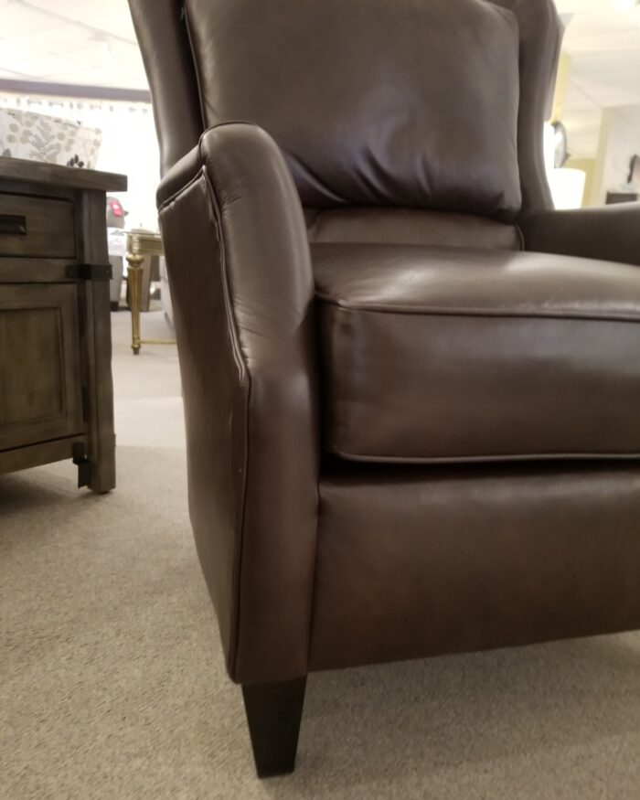 high back all leather chair