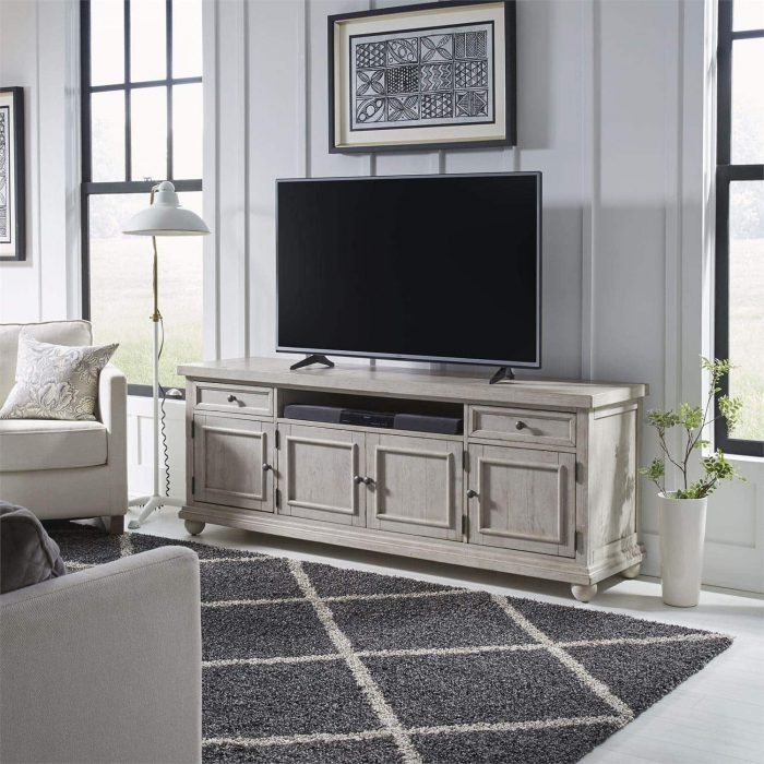 liberty furniture harvest home 66 inch tv console
