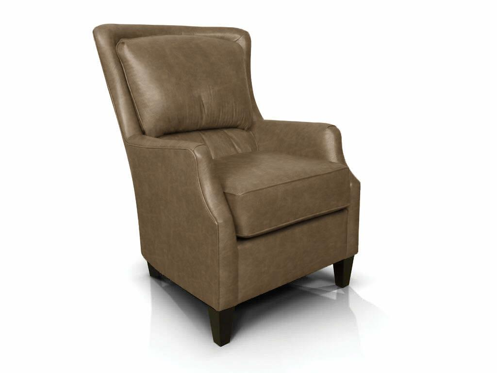 louis all leather high back chair