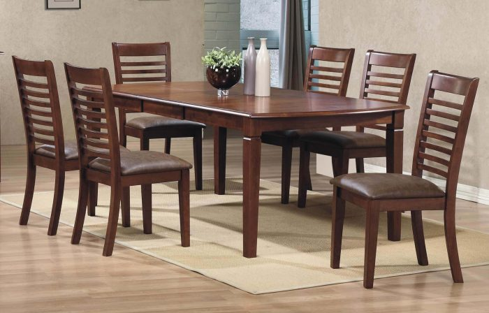 emerson winners only dining collection 78 inch leg table