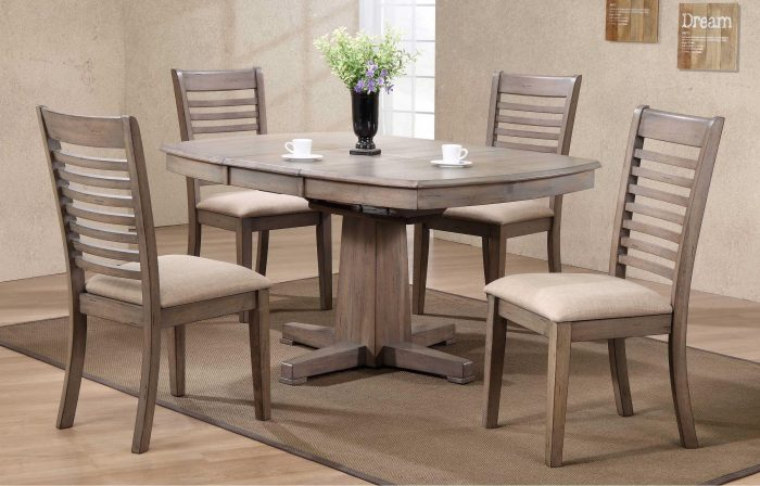 winners only ventural pedestal dining collection
