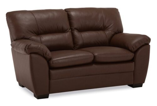 Amisk-Palliser-brown-leather-loveseat-product-iamge