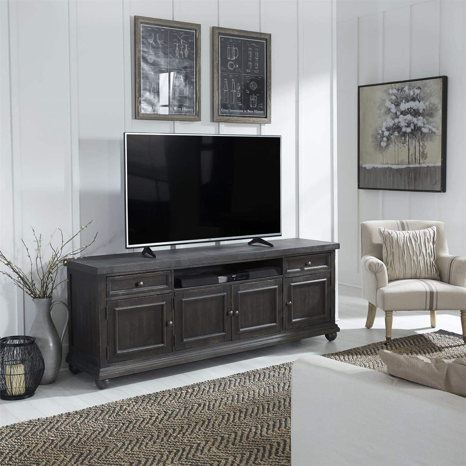 liberty furniture harvest home collection 66 inch tv console